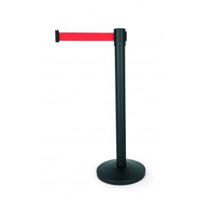 Personenleitsystem SIMPLEFLEX pulverbeschichtet schwarz, Gurt rot