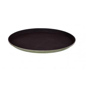 Servicetablett, rund, Ø36cm, rutschfest (auch nass), schwarz