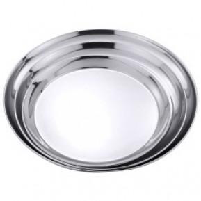 Serviertablett rund aus Edelstahl 18/0, Durchmesser: 30 cm, Höhe 2 cm
