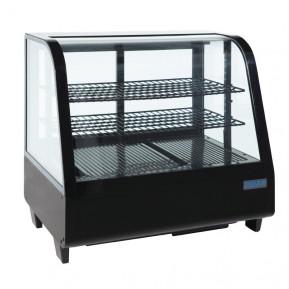 Kühlvitrine Polar 100L schwarz