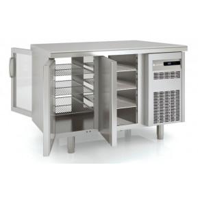 Durchreichekühltisch Premium 2/0 mit 2 Glastüren