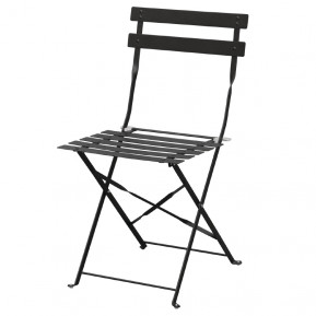 Stahlstühle Bolero schwarz klappbar 2 Stück