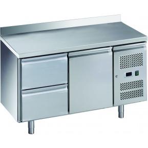 Kühltisch ECO 1/2 mit Aufkantung - GN 1/1