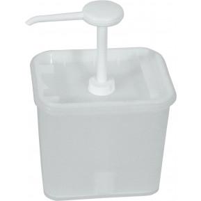 Saucenspender, 2L, Behälter 17x14x15,5cm, 30ml/Hub
