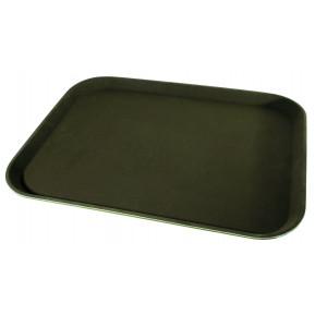 Tablett Polyester, 56x40cm, braun, rutschfest