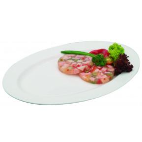 Porzellan - Bratenplatte, oval 30 x 20 cm