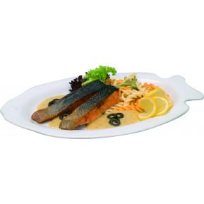 Teller, Fisch, weiss, 32 cm