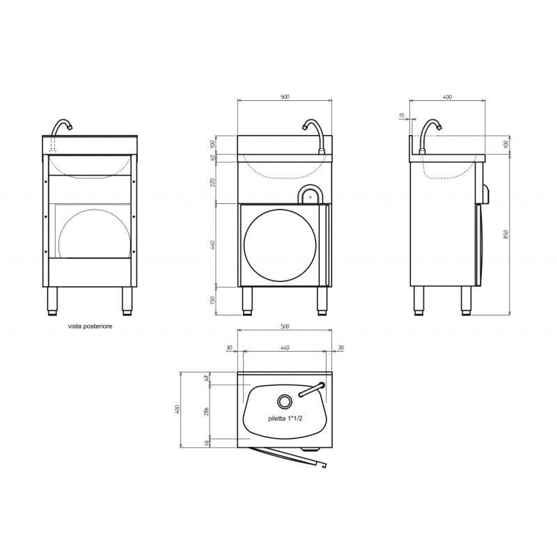 handwaschbecken mit unterschrank eco 8 online shop gastro held schweiz. Black Bedroom Furniture Sets. Home Design Ideas