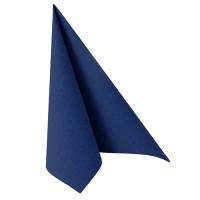"""Papstar 50 Servietten """"ROYAL Collection"""" 1/4-Falz 40 cm x 40 cm dunkelblau"""