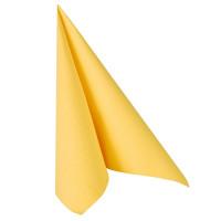 """Papstar 50 Servietten """"ROYAL Collection"""" 1/4-Falz 40 cm x 40 cm gelb"""