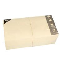 Papstar 250 Servietten, 3-lagig 1/4-Falz 33 cm x 33 cm creme
