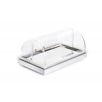 APS Kühltablett -FRAMES- Set 2, mit Rolltop-Haube, Weiss - 53 x 32,5 cm, H: 27,5 cm