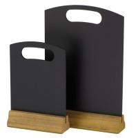 Tischtafeln, mit Holzfuß, 21x32cm