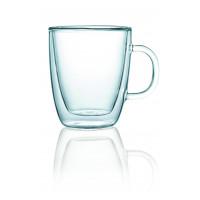 Glas Serie ENJOY, doppelwandig, Teeglas mit Henkel