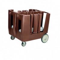 Tellerwagen Abräumwagen für 160 Teller PE braun