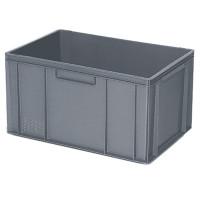 Euro-Stapelbehälter 600x400 mm, 2 Griffleisten, grau - 320 mm | Lager & Transport/Lagerausstattung/Lager- & Transportbehälter