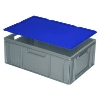 Auflagedeckel für Euro-Stapelbehälter -  blau
