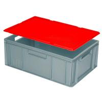 Auflagedeckel für Euro-Stapelbehälter - rot | Lager & Transport/Lagerausstattung/Lager- & Transportbehälter