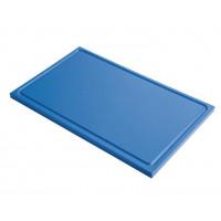 Schneidebrett mit Saftrille Gastro-M GN1/1 blau