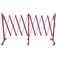 Absperr-Scherengitter rot/weiss mit 6 Rädern