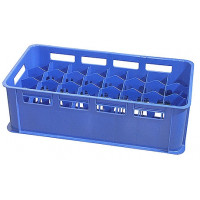 Gläserkasten 32 Fächer, blau, für 0,3 - 0,4 L Gläser