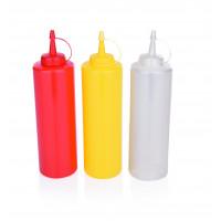 Dosier- / Quetschflasche, 0,70 Liter, weiss