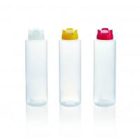 Quetschflasche mit Silikonventil, 0,7 Liter, weiss
