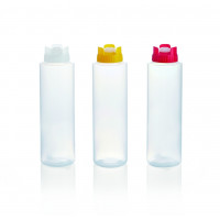 Quetschflasche mit Silikonventil, 0,94 Liter, weiss
