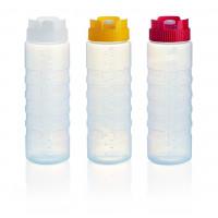 Quetschflasche mit Silikonventil und Massangabe rot
