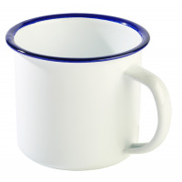 Henkelbecher -ENAMELWARE- Ø 9 cm weiß