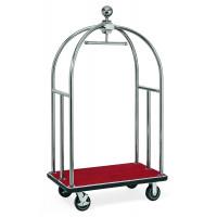 Kofferwagen ECO 1060 x 630 x 1850 - Silber Rot