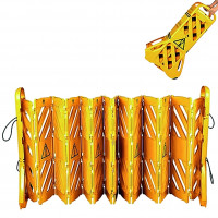 Mobile Absperrung Kunststoff, gelb