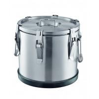 Thermobehälter aus Edelstahl, Ø 43 cm - 35 Liter