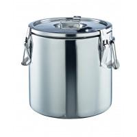 Thermobehälter aus Chrom-Nickel-Stahl,Ø 30 cm - 15 Liter