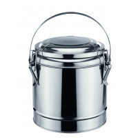 Thermobehälter, Chrom-Nickel-Stahl m. Bügelgriff, Ø 23 cm - 4 Liter | Lager & Transport/Speisentransport/Speisentransportbehälter