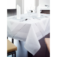 Tischwäsche Madeire rund, 100 % Baumwolle, ohne Atlaskante, 200 cm rund