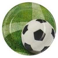 "Pappteller, rund, Ø23 cm, beschichtet, ""Fussball Wiese"" - 10 Stück"