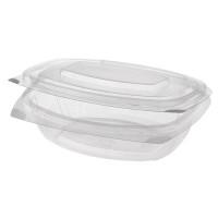 Papstar  Pure  Feinkost- und Salatschale mit Klappdeckel - M ; PLA - 50 Stück - 500 ml