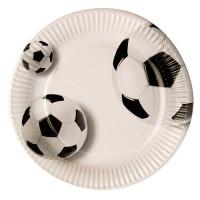 """Pappteller, rund, Ø23 cm, beschichtet, """"Fussball"""" - 10 Stück"""