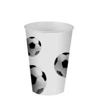 """Trinkbecher, Pappe, 0,2L, Ø 7cm, """"Fussball"""" - 14 Stück"""