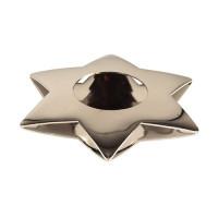 """Papstar Kerzenhalter """"Star"""", Ø 110 mm , silber"""