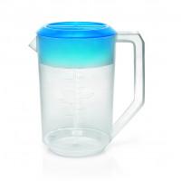 Ausgiesser / Messbecher aus PP 1,8 Liter - mit farbigem Deckel