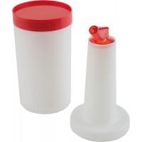 APS Dosier-/Vorratsflasche, orange Ø 9 cm, H: 33 cm, 1 Liter