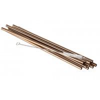 APS Trinkhalme Edelstahl SMALL - Kupfer 10 Stück inklusive einer Reinigungsbürste