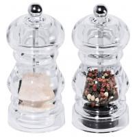 Salz-/Pfeffermühle Set aus Acryl, 0,05 Lt., Durchmesser 5,5cm - 2-teilig