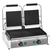 Elektro-Kontaktgrill ECO 2 x 1,8 kW, gerillt | Kochtechnik/Grills/Kontaktgrills