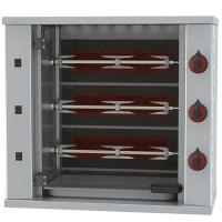Elektro-Hähnchengrill mit Beleuchtung, 3 Spieße für 9 Hähnchen | Kochtechnik/Grills/Hähnchengrills