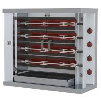 Elektro-Hähnchengrill mit Beleuchtung, 4 Spieße für 20 Hähnchen | Kochtechnik/Grills/Hähnchengrills