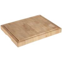 Holzschneidbrett, Länge 53 cm, Breite 32,5 cm, Höhe 6 cm