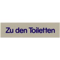 Wortschild ZU DEN TOILETTEN